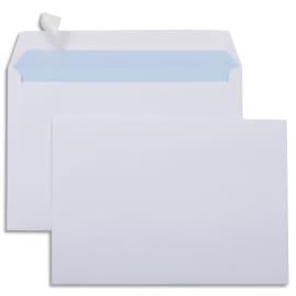 Boîte de 500 enveloppes Blanches 80g C5 162x229 mm auto-adhésives photo du produit