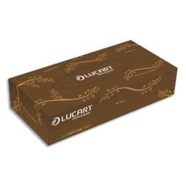 LUCART Boîte de 100 mouchoirs jetables enchevetrés 2 plis Havane Econatural, L20 x H21 cm photo du produit