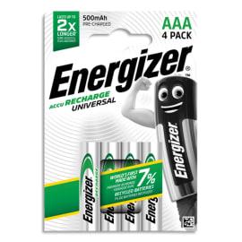 ENERGIZER Blister de 4 piles AAA LR03 Universal rechargeable 500 mAh 7638900306965 photo du produit