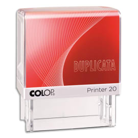 COLOP Timbre formule DUPLICATA - Printer 20 L à encrage automatique Rouge. Dim.empreinte 14x38mm photo du produit