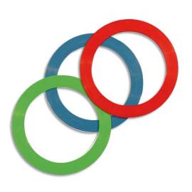 FIRST LOISIRS Lot de 12 anneaux de jonglage, diamètre 24 cm, couleurs assorties photo du produit