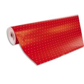 CLAIREFONTAINE Rouleau de papier cadeau ALLIANCE 80g. Spécial commercant : 50x0,7m. Rouge pois Blanc photo du produit