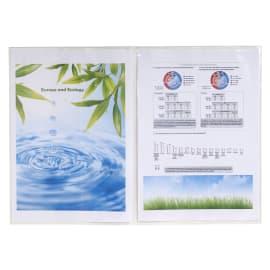 EXACOMPTA Sachet de 10 étuis 4 faces en PVC 15/100 ème. Format 30 x 21 cm. photo du produit