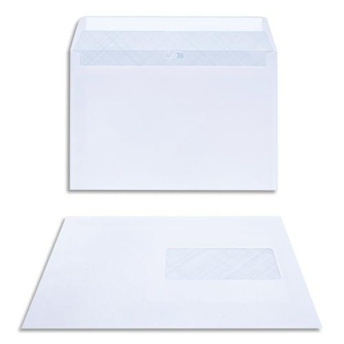 BONG Boîte de 200 enveloppes DL 162x229mm Blanc 80g auto-adhésive 23040 photo du produit Principale L