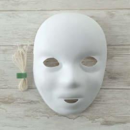 GRAINE CREATIVE Lot de 12 masques enfants à décoreR BASIQUE en sachet photo du produit