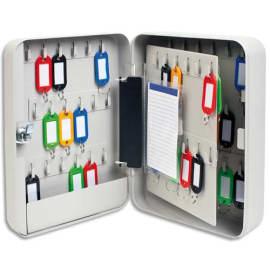 Armoire à clés capacité 60 clés Grise - Dimensions : L18 x H25 x P8 cm photo du produit