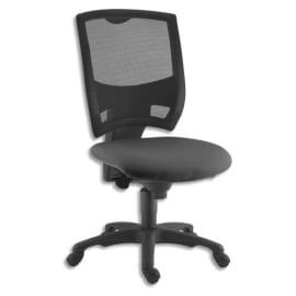 Siège contemporain Gaz dossier en résille assise en tissu Noir, à mécanisme synchrone, sans accoudoirs photo du produit