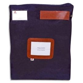 ALBA Pochette navette Bleue grand modèle en PVC à soufflets dimensions : 40x50x5cm photo du produit