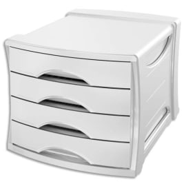 ESSELTE Bloc de classement Europost 4 tiroirs - VIVIDA Blanc - L28,5 x H24,5 x P38 cm photo du produit