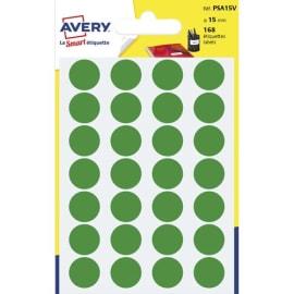 AVERY Sachet de 168 pastilles Ø15 mm. Ecriture manuelle. Coloris Vert. photo du produit