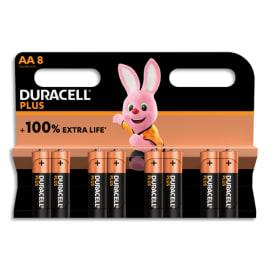 DURACELL Blister de 8 piles PLUS 100% AA 5000394140899 photo du produit
