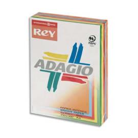 INAPA Ramette 100 feuilles x 5 teintes papier couleur intense ADAGIO assortis intenses A4 80g photo du produit