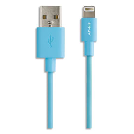 PNY Câble USB 2.0 vers Lightning 1,20M BL C-UA-LN-B01-04 photo du produit