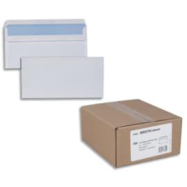 Boîte de 500 enveloppes Blanches 80g DL 110x220 mm autocollantes photo du produit