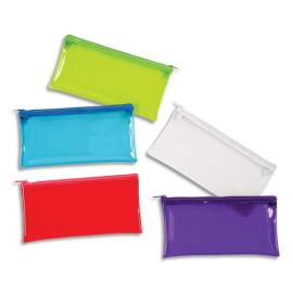 VIQUEL Trousse ovale CRYSTAL 22x11x5cm en PVC transparent brillant. Coloris assortis photo du produit