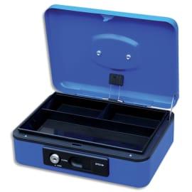 PAVO Caisse à monnaire 30cm/3 compartim, ouverture auto bouton poussoir+serrure cylindrique Bleue 8007530 photo du produit