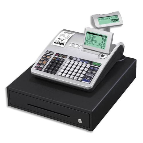 CASIO Caisse enregistreuse SES3000 grand tiroir argent SE-S3000MB-FR compatible fiscalité 2018 photo du produit Principale L