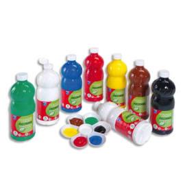 8 litres de gouache : Jaune d'or,vermillon,carmin,Rose tyrien,Violet,Bleu primaire,Turquoise,vert clair photo du produit