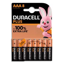 DURACELL Blister de 8 piles PLUS 100% AAA 5000394141179 photo du produit