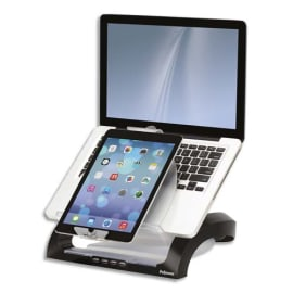 FELLOWES Support ordinateur portable + support tablette Smart Suite Plus Multimédia 8024801 photo du produit