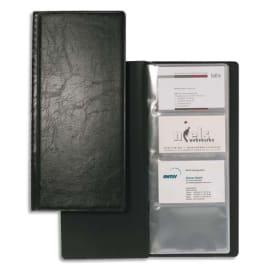 DURABLE Porte-cartes Visifix album pour 128 cartes de visite aspect grain de cuir Noir - L115 x H253 mm photo du produit