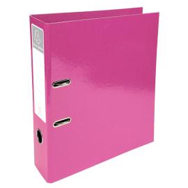 EXACOMPTA Classeur à levier IDERAMA en carton pelliculé. Dos 7 cm. Format A4+. Coloris Rose photo du produit