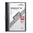 DURABLE Chemise de présentation Duraclip 60 à clip, couverture transparente - 1-60 feuilles A4 - Noir photo du produit