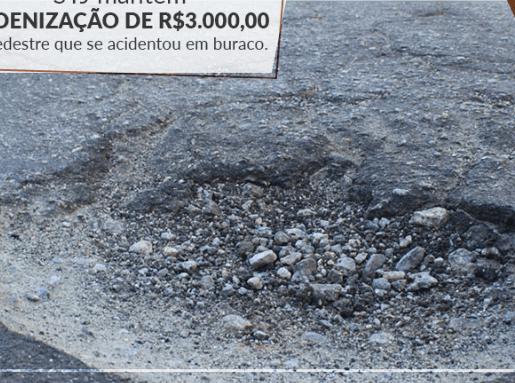 STJ mantém indenização de R$ 3 mil a pedestre que se acident