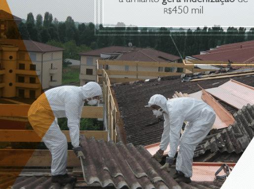 Morte ocorrida por exposição a amianto gera indenização