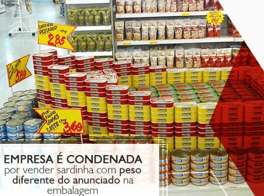 Empresa é condenada por vender sardinha com peso diferente