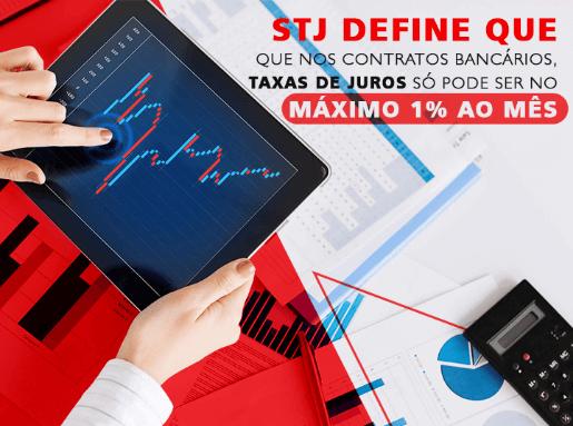 Taxa de juros só pode ser no máximo 1% ao mês