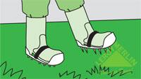 Проветривание и очистка газона