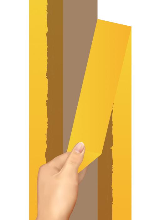 Этапы покраски стен в полоску