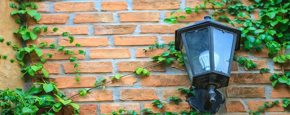 Как установить наружное освещение
