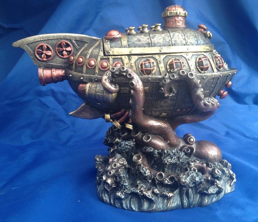 Steampunk LEVIATHANS échapper Ornement Nemesis maintenant de nouvelles boîte Octopus sous-marin