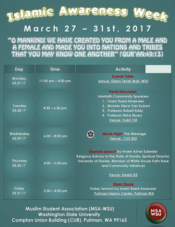WSU Islamic Awareness Week