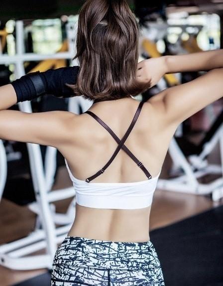jual Bra sport senam gym fitness orlahraga   tali silang leher