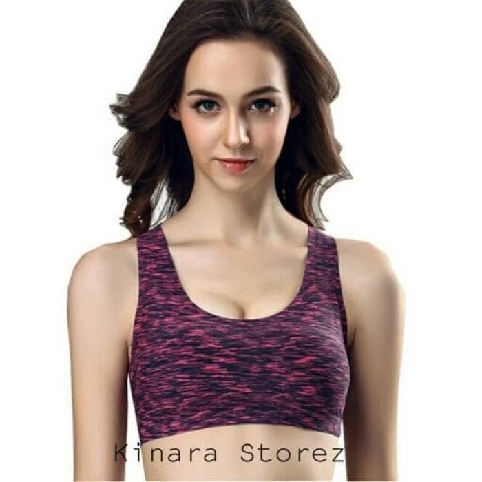 jual Bra Sport Salur Tali Silang Baju Olahraga Fitness Gym Senam BS.8736