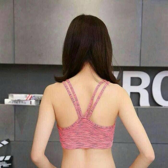 jual Bra Sport Tali Silang Olahraga Jogging Gym Fitness Yoga