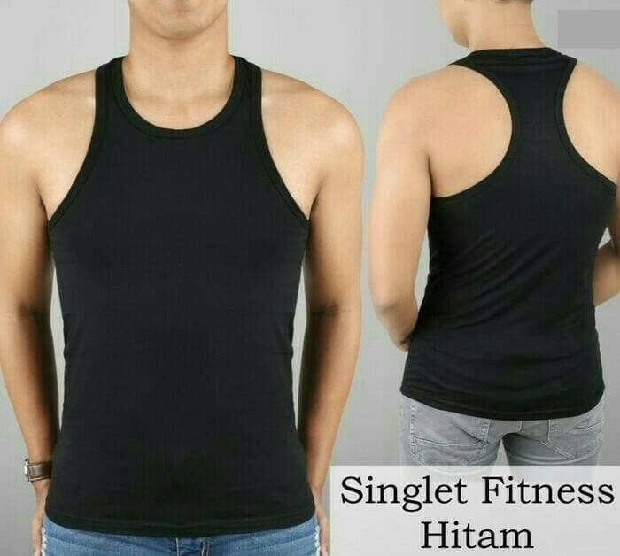 jual singlet kaos daleman baju dalam pria dalaman polos fitness gym