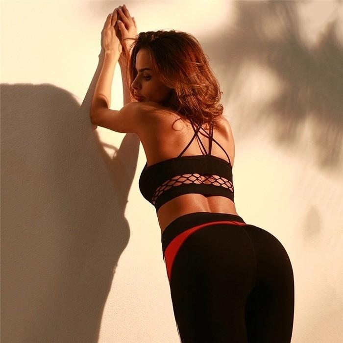 jual Bralette bra sport jaring tali silang /atasan gym fitness senam