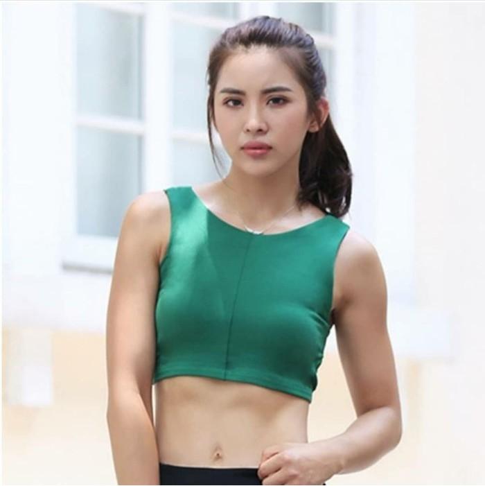 jual Bra sport Tali silang Gym Fitness Atasan Senam Olahraga