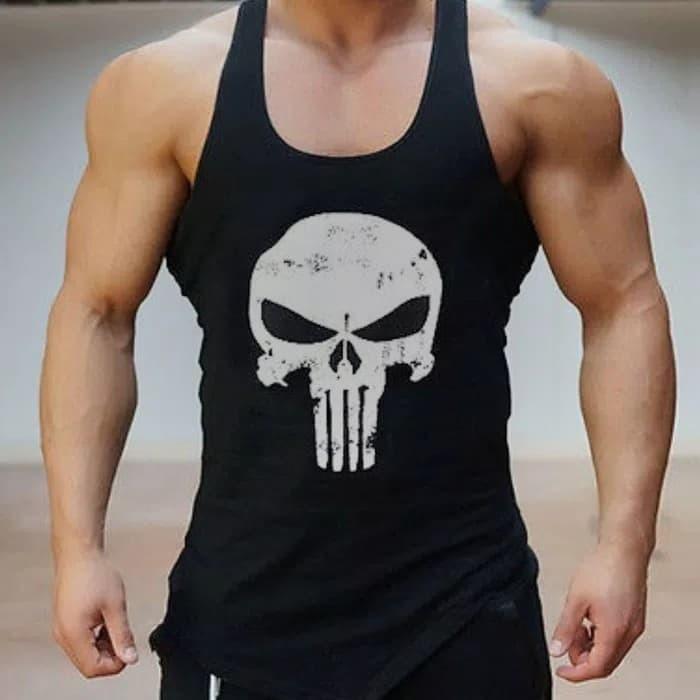 jual Singlet gym fitness kaos tanktop pria cowok