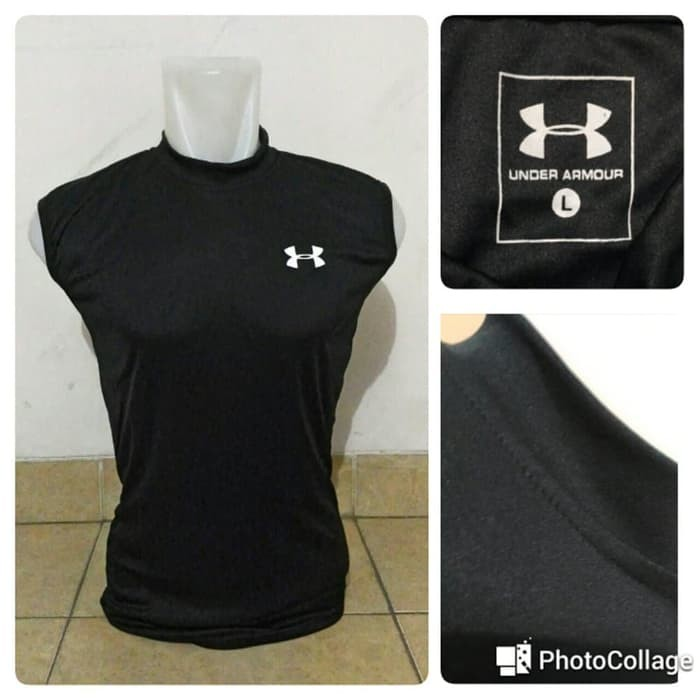 jual Singlet UnderArmour Sleeveless Black