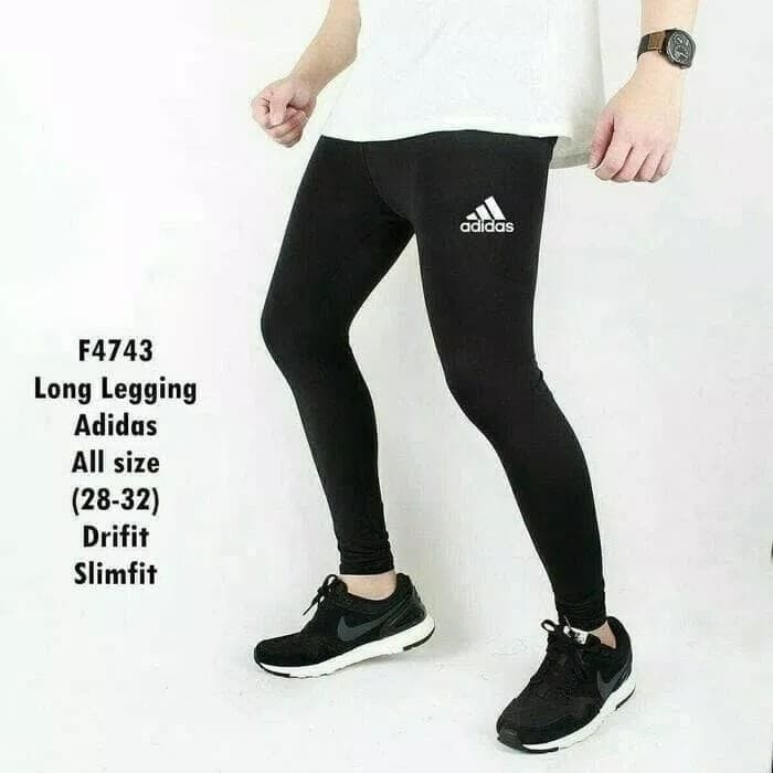 jual celana legging leging training pria futsal gym fitness kiper olahraga