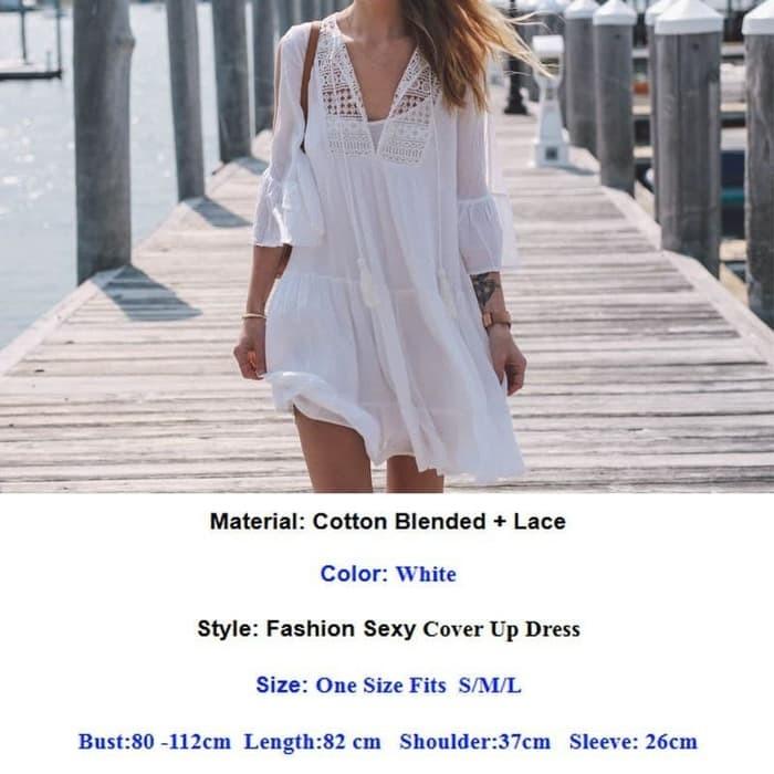 jual SERENITY BEACH TOP Bikini Outer Luaran Bra Blouse Baju Pantai Kamisol