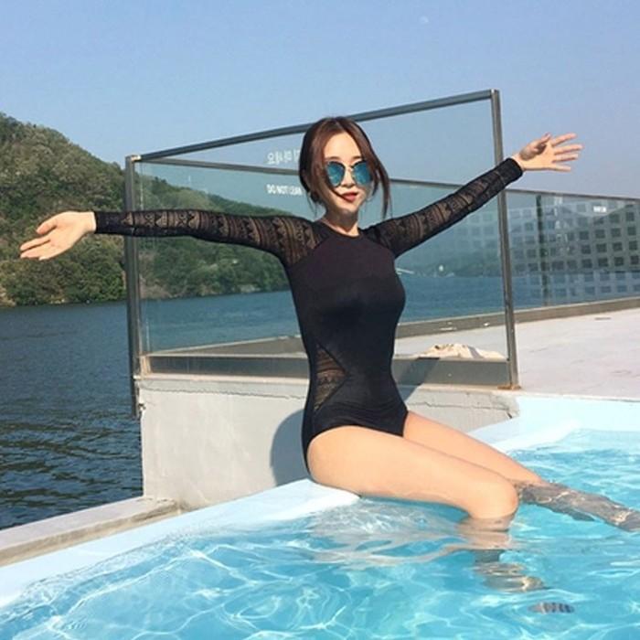 jual bikini sexy korea import one piece busa baju renang panjang swimsuit