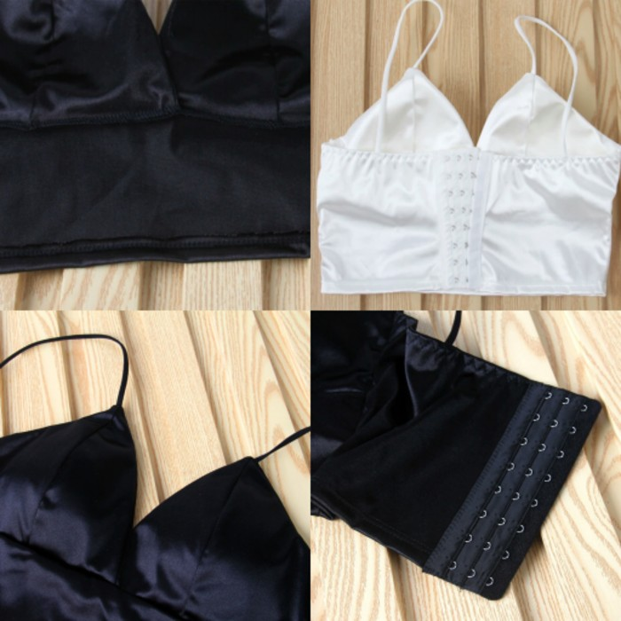 jual SEXY8 - Bra Bralette Busa Fashion   Seksi Tank Top Baju Bikini - Hitam