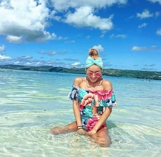 jual Sabrina Floral Swimsuit Baju Renang   Bikini Set Monokini Busa