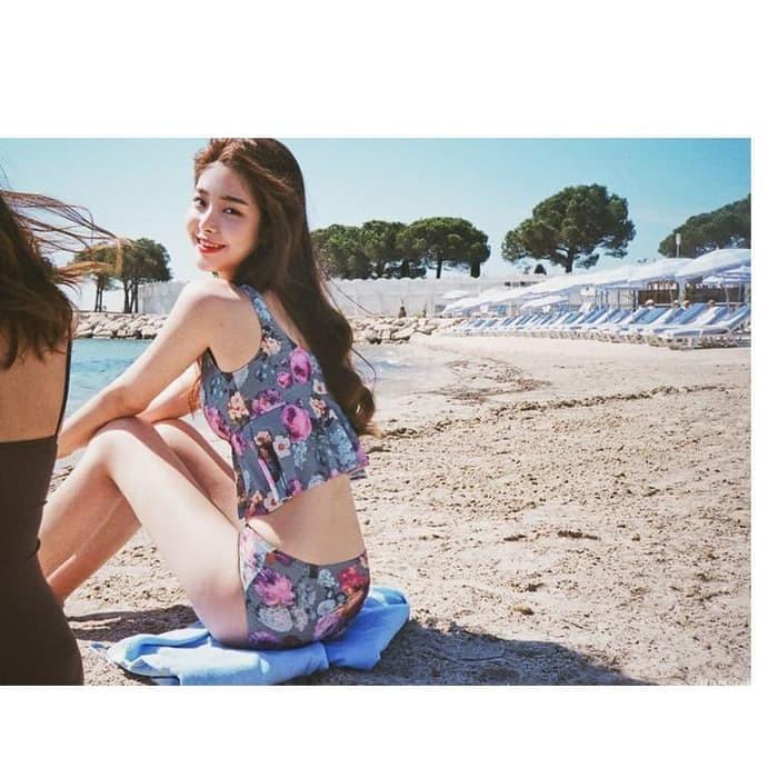 jual Baju Renang   Bikini Set Korea Murah Lingerie Busa Bra Swimsuit